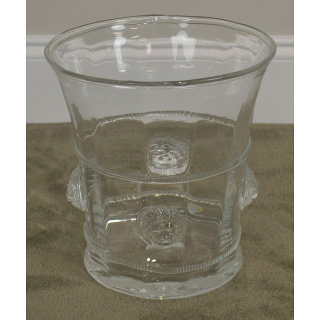 Traditional Abigails Czech Republic Lion Head Glass Ice Bucket For Sale - Image 3 of 13