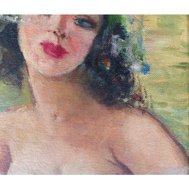 1940's French Oil Painting by Raphael Pricert For Sale - Image 4 of 6