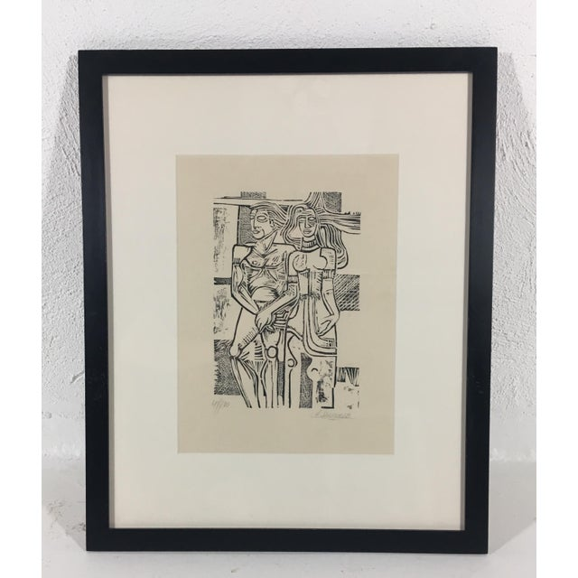 White South American Etching on Paper For Sale - Image 8 of 8