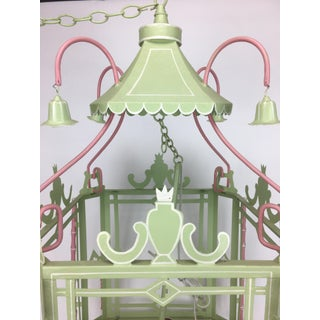 1970s Traditional Pagoda-Top Light Green Tole Lantern Preview