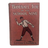 Image of 1910s Antique Baseball Book for Room Decor For Sale