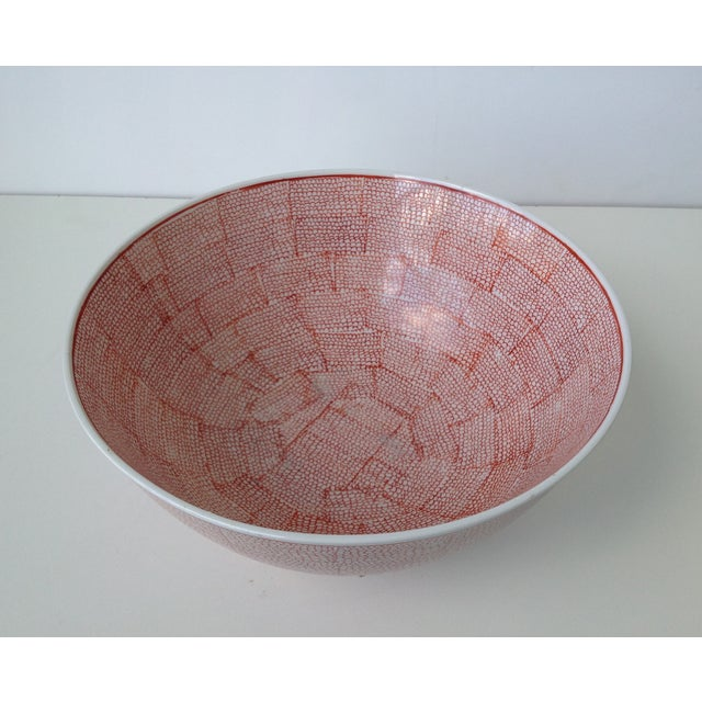 Vintage Asian Hand Decorated Porcelain Bowl For Sale In West Palm - Image 6 of 11