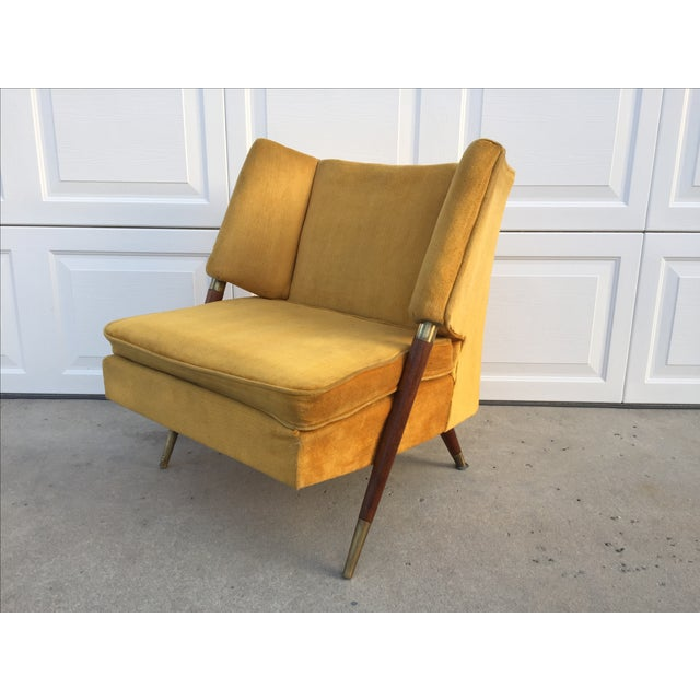 Mid Century Yellow Floating Lounge Chair - Image 4 of 11