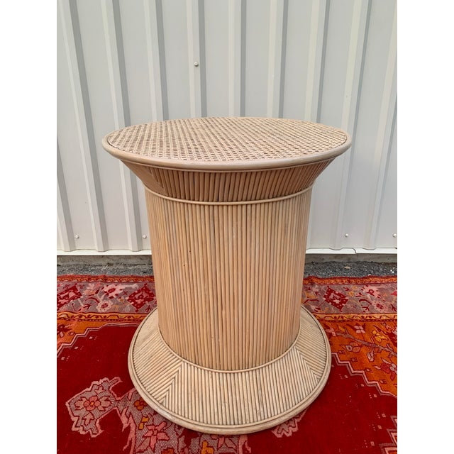 Split Reed Bamboo Rattan Dining Table Base in Crespi Style For Sale - Image 12 of 12