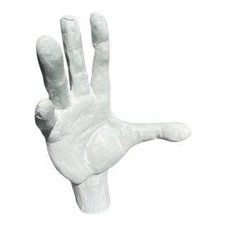 Studio Piece Paper Mache Hand Sculpture For Sale