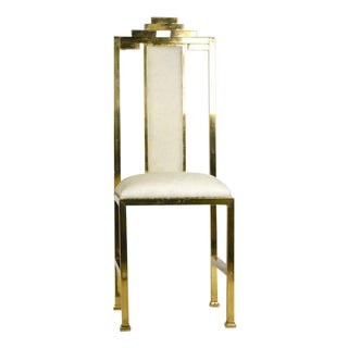 Italian Brass 'Skyscraper' Chairs - Set of 4