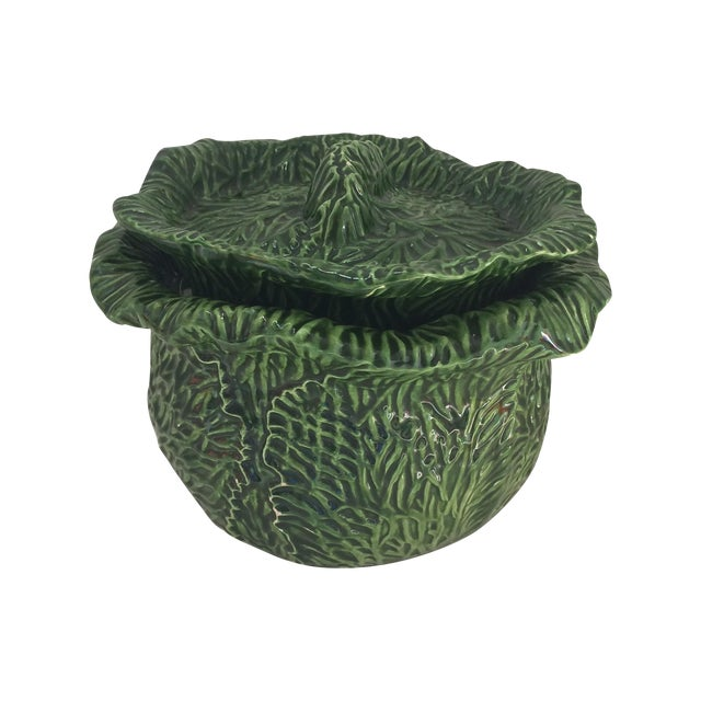 Green Covered Lettuce Ware Bowl - Image 1 of 7