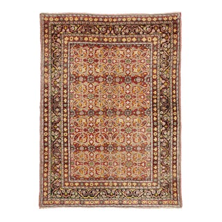 Vintage Turkish Oushak Rug with Traditional Style