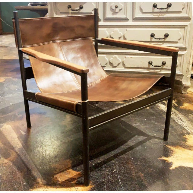 Cisco Brothers Vachetta Coffee Leather Barcelona Chair by Cisco Brothers For Sale - Image 4 of 13
