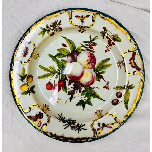 English Vintage Floral & Fruit Motif Serving Plates - Set of 3 For Sale - Image 3 of 6