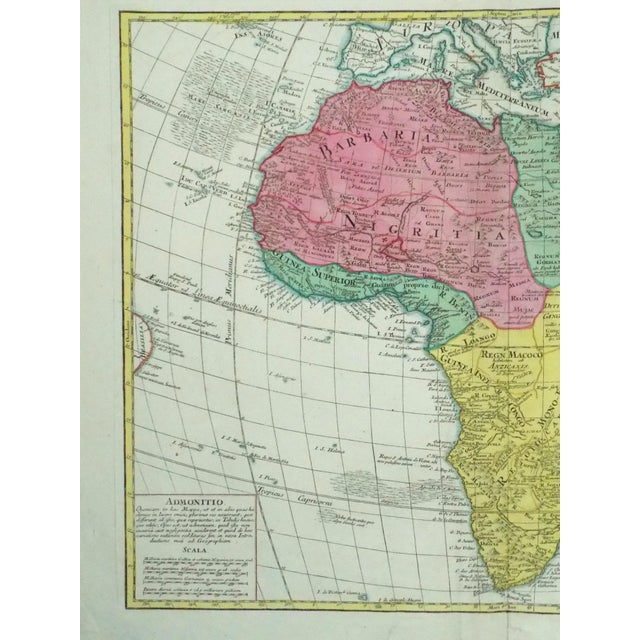 Engraving 1778 Africa Map by Lotter For Sale - Image 7 of 10