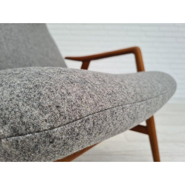 Wood Danish Design by Alf Svensson, Model Kontour, 70s, Completely Renovated-Reupholstered For Sale - Image 7 of 13