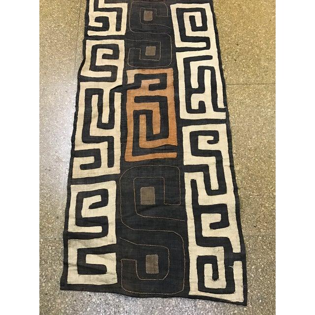 Fabric African Handwoven Kuba Cloth Panel For Sale - Image 7 of 7