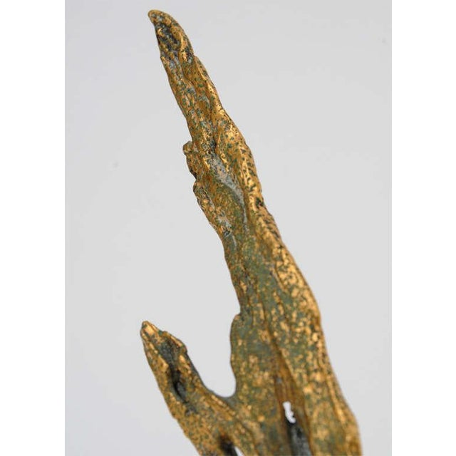 Bronze Bronze Bird Sculpture by Peggy Reventlow For Sale - Image 7 of 9