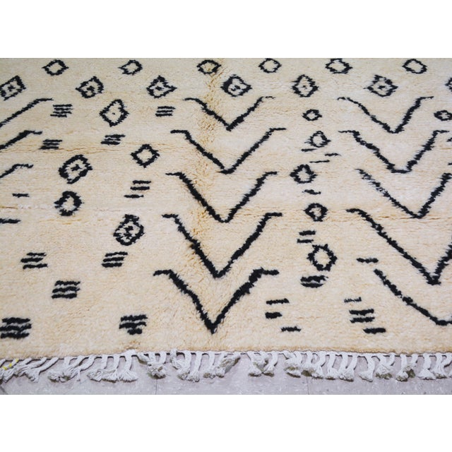 """Shabby Chic Moroccan Hand Knotted Azilal Rug With Soft Texture and Tribal Pattern,5'7""""x8' For Sale - Image 3 of 5"""