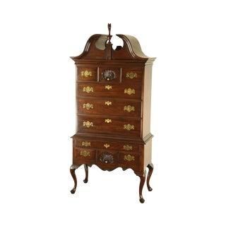 Henkel Harris Mahogany Philadelphia Queen Anne Highboy (C) For Sale
