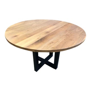 48 Inch Black Walnut Dining Table For Sale