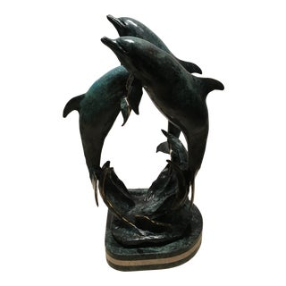 "Mark Anderson ""Playmates"" Dolphins Sculpture For Sale"
