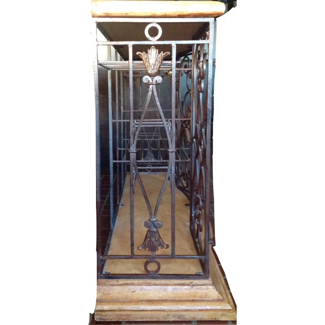 Metal Henredon Registry Collection Terra Cotta & Wrought Iron Console For Sale - Image 7 of 12