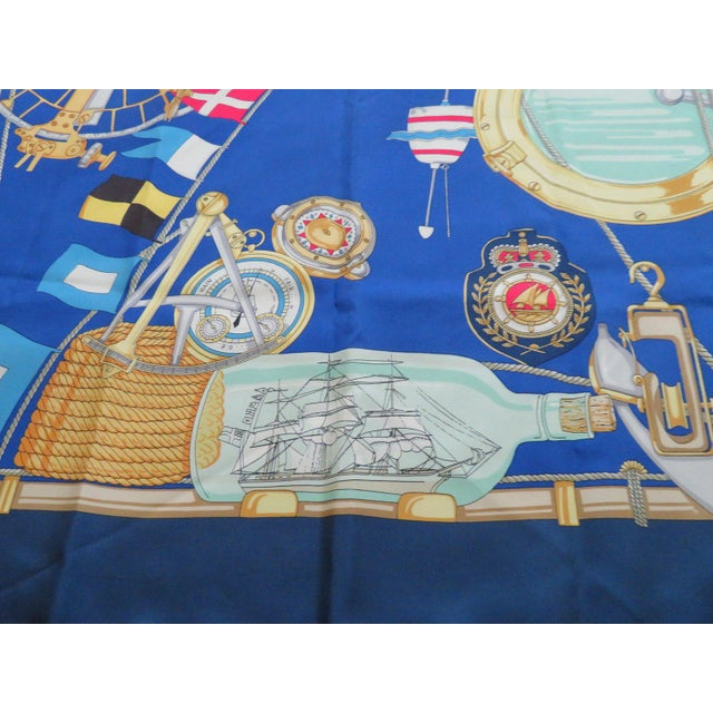 Gucci Vintage Gucci Nautical Silk Scarf For Sale - Image 4 of 13