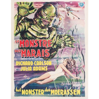Creature from the Black Lagoon 1954 Belgian Film Poster For Sale