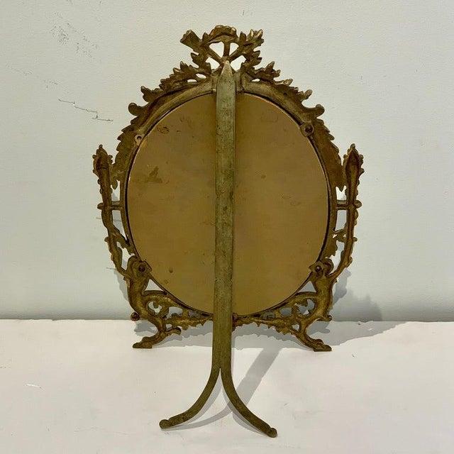 Napoleon III Napoleon III Bronze Dressing Mirror For Sale - Image 3 of 10