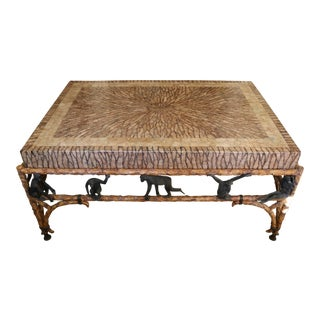 Safari Maitland-Smith Stone Cocktail Table For Sale