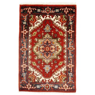 Pasargad N Y Serapi Design Hand-Knotted Rug - 2' X 3' For Sale
