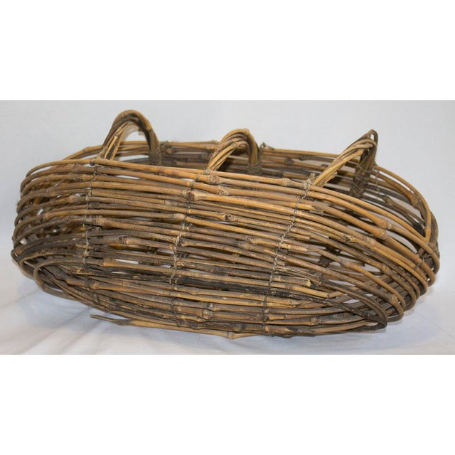 Country Country Woven Twig Basket For Sale - Image 3 of 5