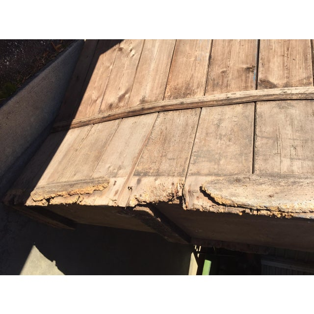 18th Century English Pine Curved Settle Bench - Image 11 of 11