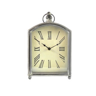 Vintage Metal Table Clock For Sale