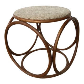 1970s Refine Vintage Bentwood Circular Stool by Thonet For Sale