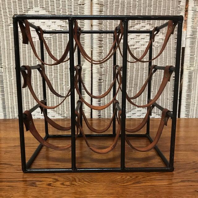 Industrial Vintage Rustic Wine Rack For Sale - Image 3 of 8