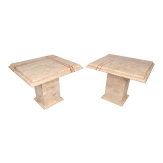 Maitland Smith Style Tessellated Side Tables For Sale