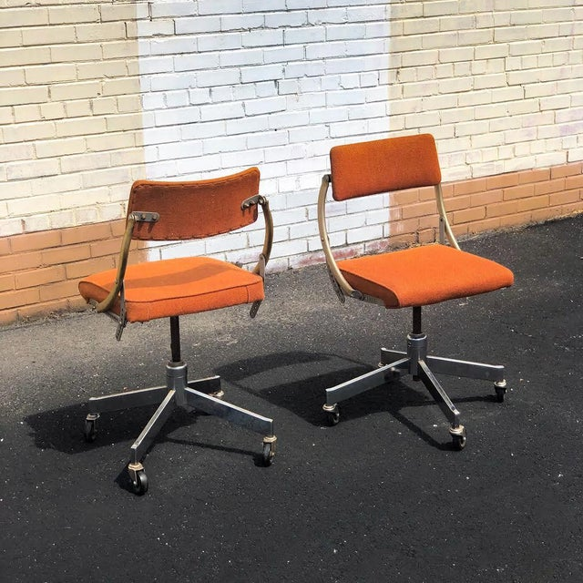 Industrial 1950s Vintage DoMore Industrial Office Chairs- a Pair For Sale - Image 3 of 6