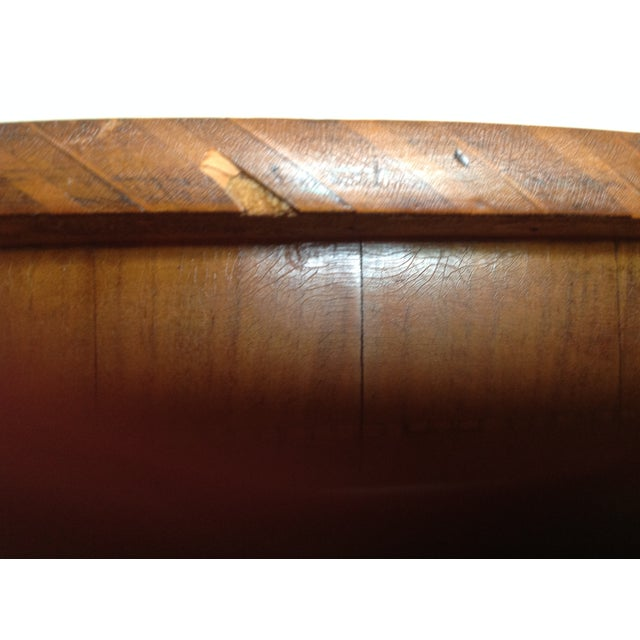 Intricately Detailed Parquet Antique Round Table - Image 9 of 11