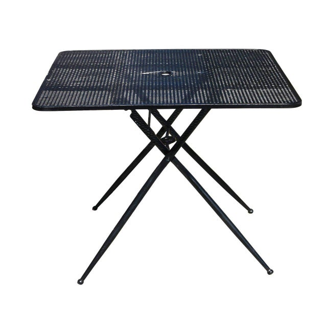 Metal Salterini Mid-Century Modern Steel Outdoor or Patio Dining Set with Four Chairs For Sale - Image 7 of 8