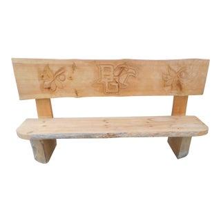 "Custom Live Edge Slab 88"" Wood Bench Handcrafted"
