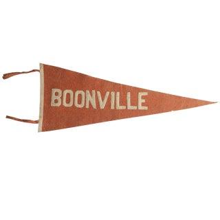 Antique Boonville Felt Flag Pennant