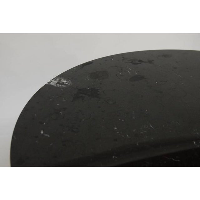 Eero Saarinen Style Black Marble Tulip Dining Table For Sale - Image 10 of 10