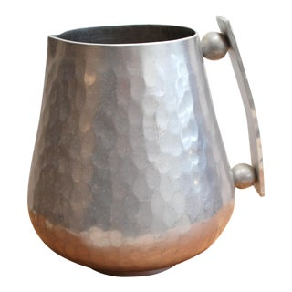 Modernist Buenilum Hammered Aluminum Pitcher