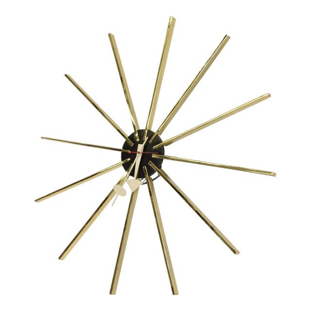 Mid Century Modern Wall Clock by George Nelson for Howard Miller For Sale