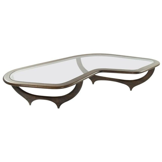 Large Scale Sculptural Walnut Coffee Table, Italy, 1950s For Sale - Image 13 of 13