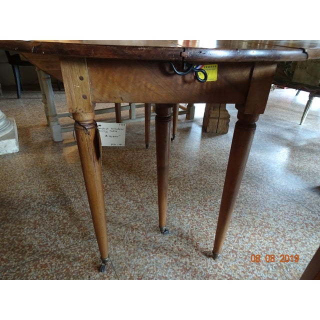 Walnut Epoch Directoire Dining Table For Sale - Image 10 of 12