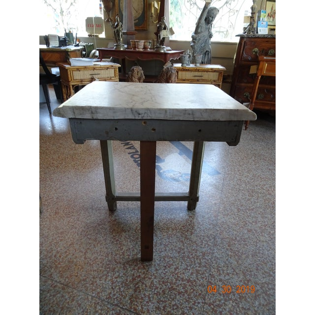 Late 19th Century Pair of French Marble Top Consoles For Sale - Image 5 of 11