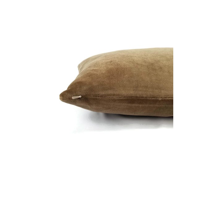 Not Yet Made - Made To Order Brown Velvet Lumbar Pillow Cover For Sale - Image 5 of 6