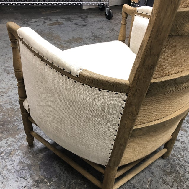 Restoration Hardware 18th C. French Upholstered Bergere Chair For Sale In San Francisco - Image 6 of 13