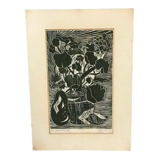 """1960s Vintage """"La Premiere"""" Silkscreen Art by Jill Gill For Sale"""