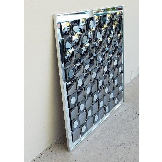 Hal Bienenfeld Hal Bienenfeld Op Art Circle Within Squares Mirror For Sale - Image 4 of 7