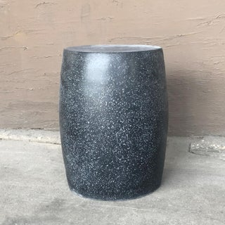 Cast Resin 'Barrel' Side Table, Coal Stone Finish by Zachary A. Design Preview
